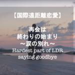 【国際恋愛】遠距離恋愛 涙の別れ ~Saying goodbye at Airport~