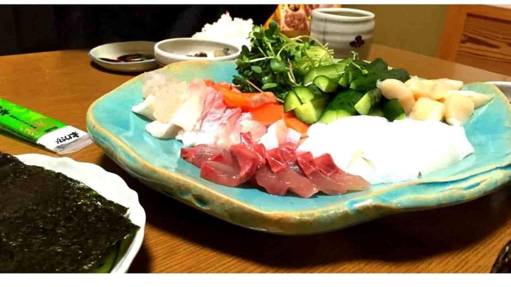 刺身 手巻き寿司 海 海鮮 新鮮