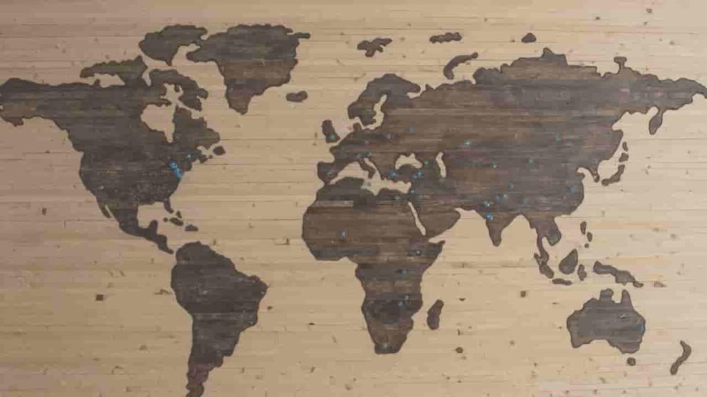 海外移住 海外就職 世界地図 旅行 ノマド フリーランス 働き方 自由